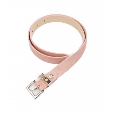 Cintura con fibbia con logo pink