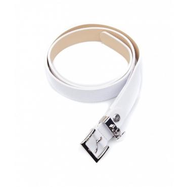 Cintura con fibbia con logo bianco