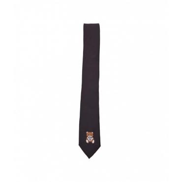 Cravatta con stampa logo nero
