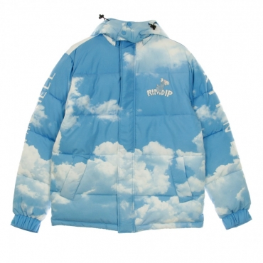 PIUMINO HEAVEN AND HELL PUFFER JACKET BLUE