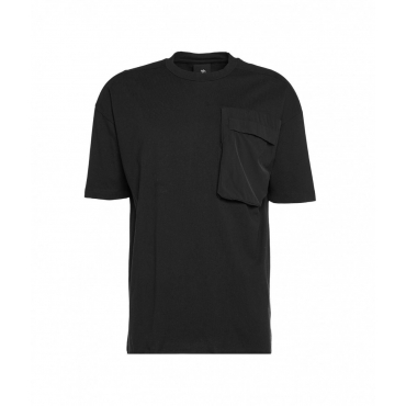 T-shirt con tasca applicata nero