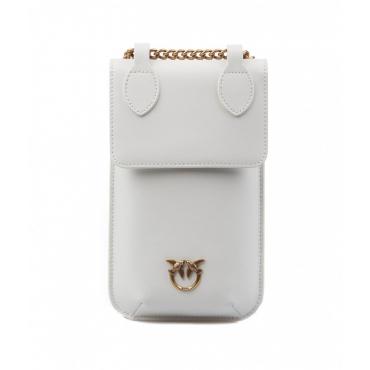 Porta smartphone in pelle bianco