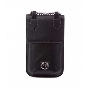 Porta smartphone in pelle nero