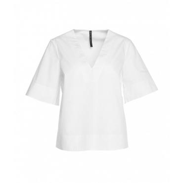 Camicia in popeline bianco