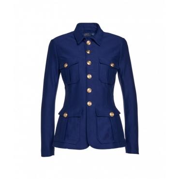 Blazer con bottoni oro blu royal