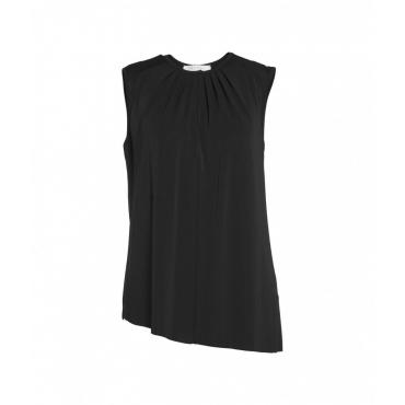 Camicia con pieghe nero