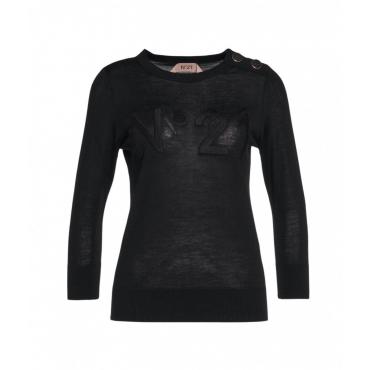 Maglione con logo nero