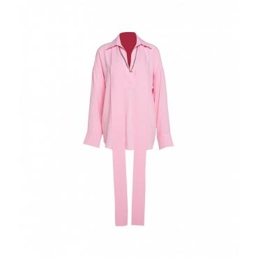 Camicia con catena rosa
