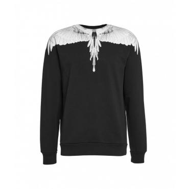 Wings Regular Crew Neck Sweater nero
