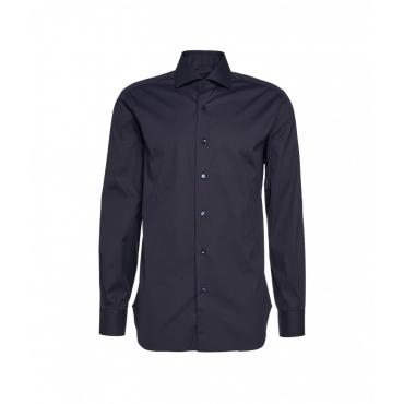 Camicia in popeline blu scuro