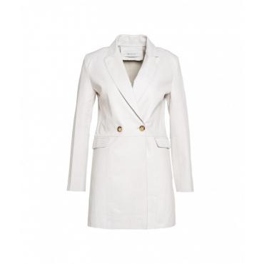 Cappotto in pelle bianco