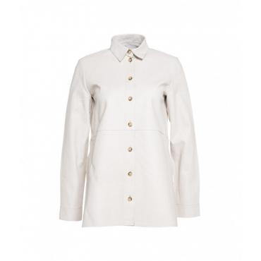 Camicia in pelle bianco