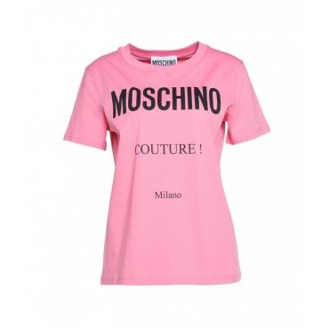 T-shirt con logo pink
