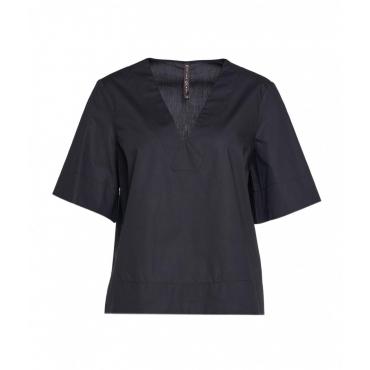 Camicia in popeline nero