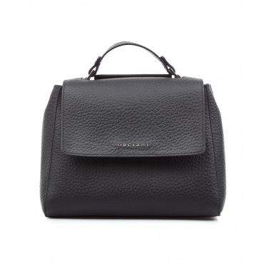 Mini borsa in nappa nero