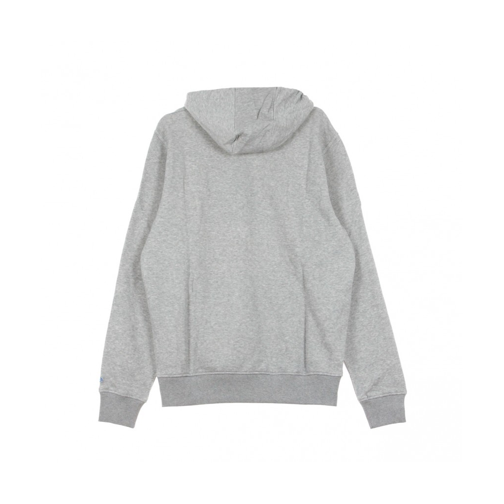 FELPA CAPPUCCIO TEAM LOGO PO HOOD DETLIO HEATHER GREY/ORIGINAL TEAM COLORS
