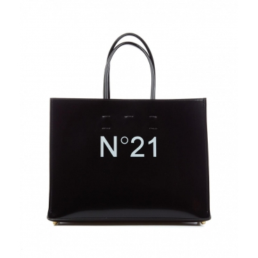 Shopper con logo nero