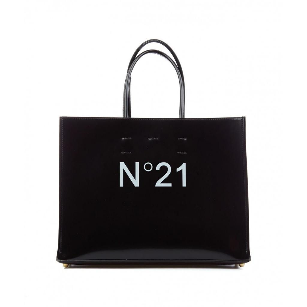 Shopper con logo nero