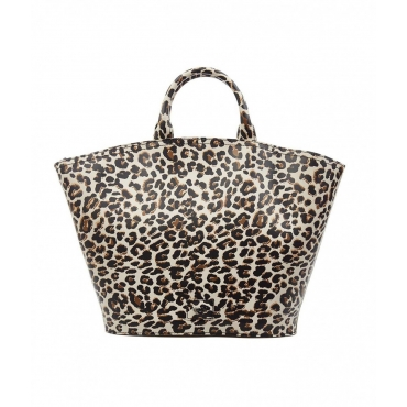 Borsa con stampa animale marrone