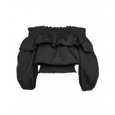 Camicia off-shoulder nero