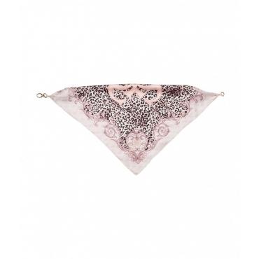 Bandana animalier rosa chiaro