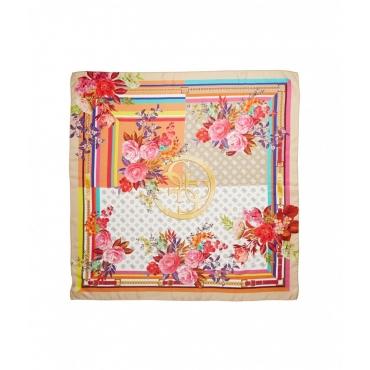 Foulard floreale multicolore