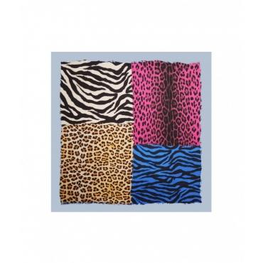 Foulard animalier multicolore