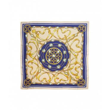 Foulard con stampa beige