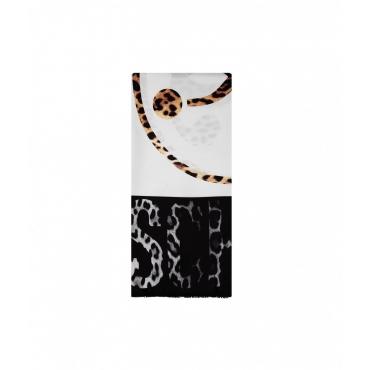 Foulard animalier nero