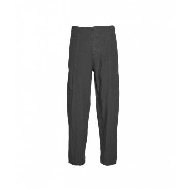 Pantaloni larghi in lino grigio scuro