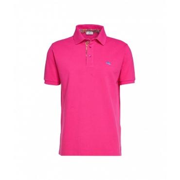 Polo con ricamo pegasus pink