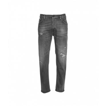 Jeans a carota Brighton grigio scuro
