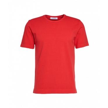 T-shirt con struttura rosso