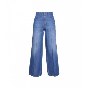 Wide leg jeans blu