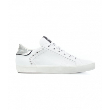 Sneaker Low Top Distressed bianco