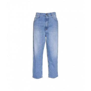 Jeans Lola in Carrot-Fit blu