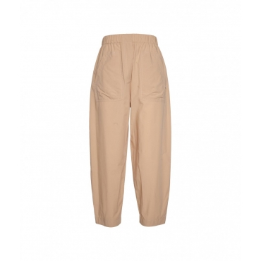 Pantaloni Paperbag marrone