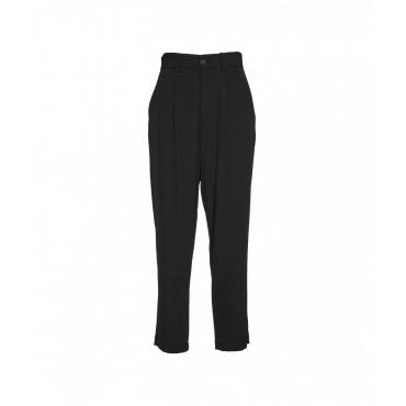 Pantaloni a pieghe nero