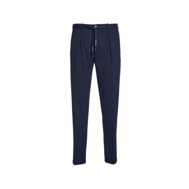 Pantaloni in piqu blu