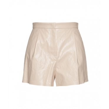 Shorts in similpelle beige