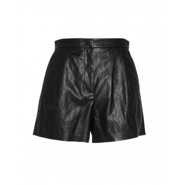 Shorts in similpelle nero