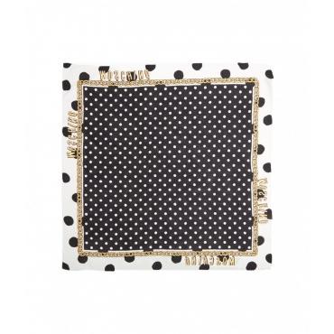 Foulard polka dots nero