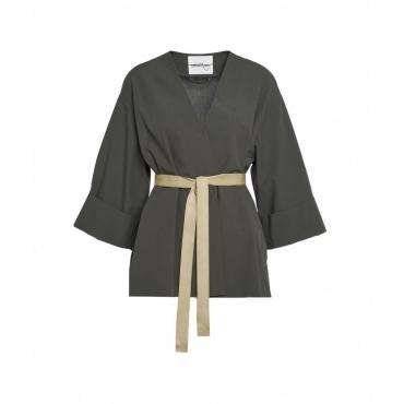 Kimono in cotone verde