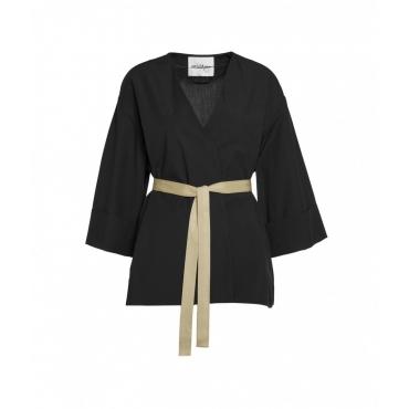 Kimono in cotone nero