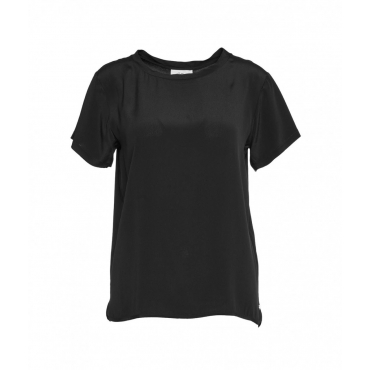 T-shirt in seta nero