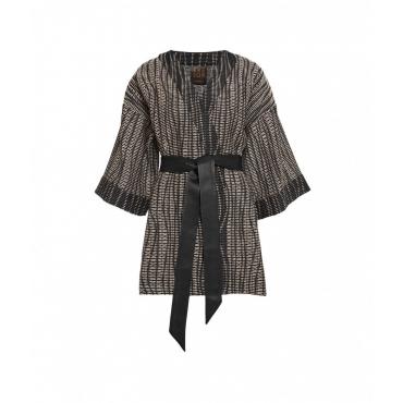 Kimono boucl nero