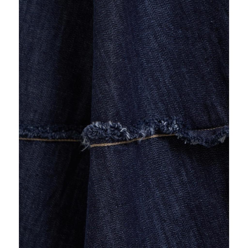 Wrap dress in denim blu