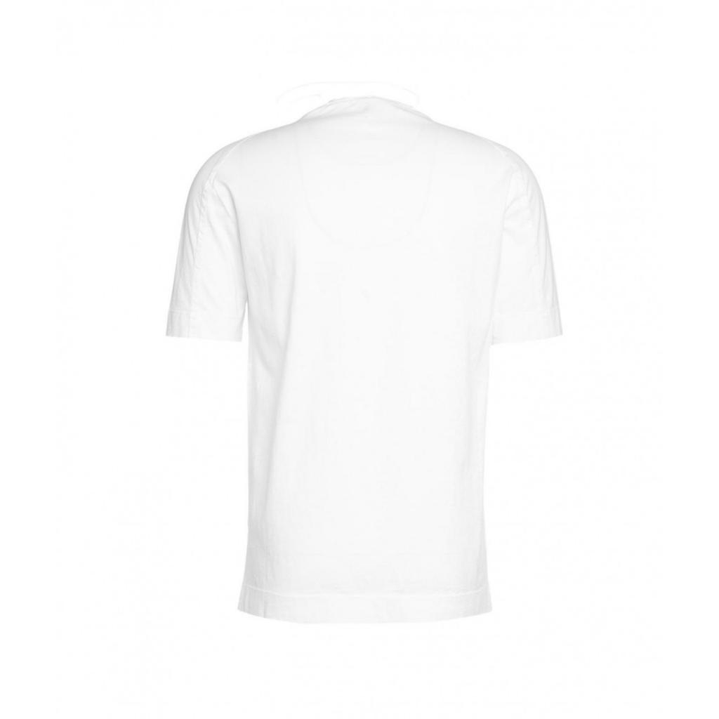 T-shirt con dettagli di cucitura bianco