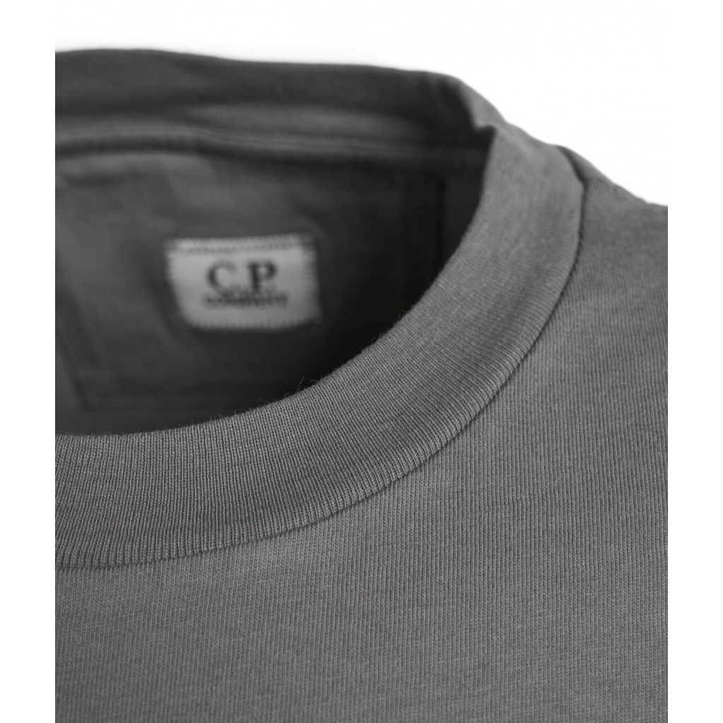 T-shirt con stampa del logo grigio