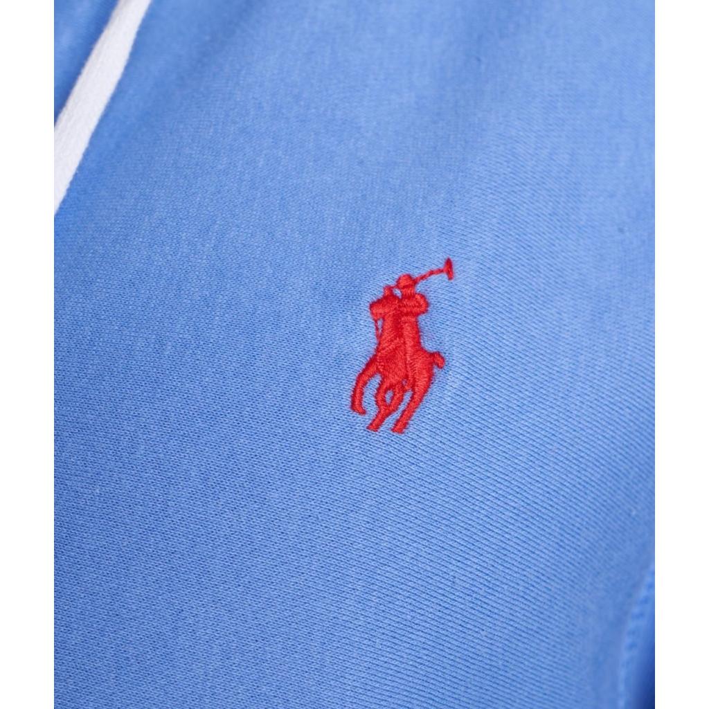 Felpa con zip blu